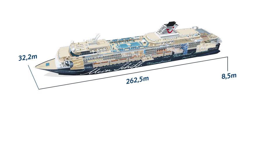 Mein Schiff 1 - Schiffsabmessungen