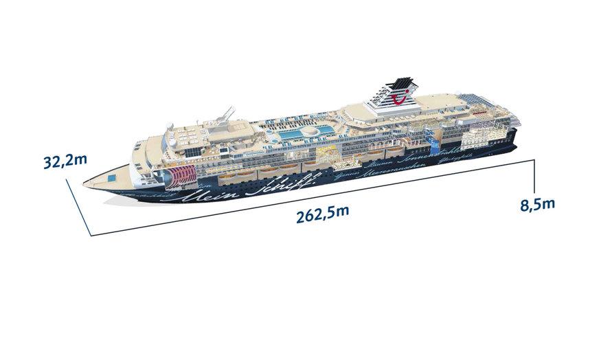 Mein Schiff 2 - Schiffsabmessungen