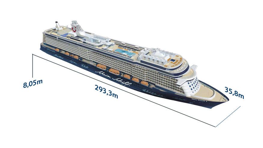 Mein Schiff 3 - Schiffsabmessungen