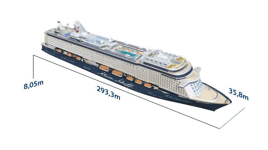 Mein Schiff 4 - Schiffsabmessungen