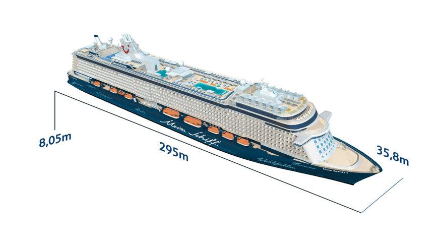 Mein Schiff 5 - Schiffsabmessungen