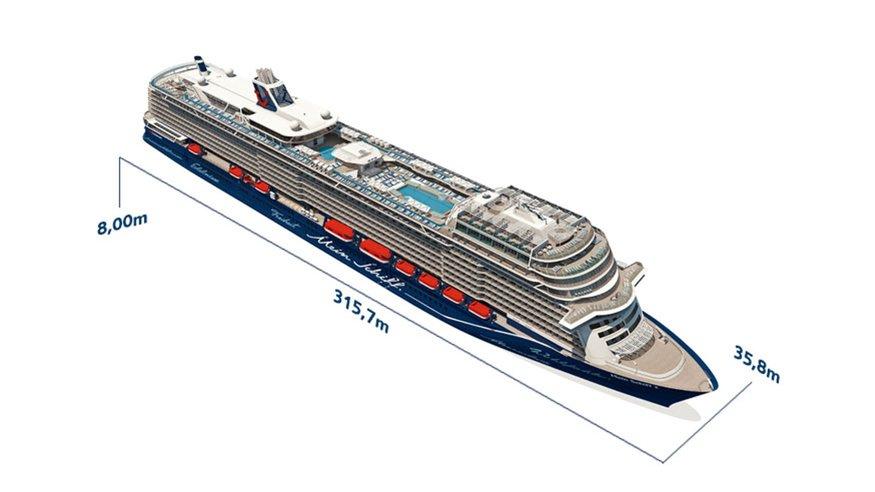 Mein Schiff 2 NEU - Schiffsabmessungen